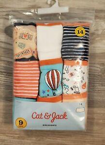 New Cat & Jack 8 Pack Girl Shorts Panties Travel Adventure Hot Air Balloon 14