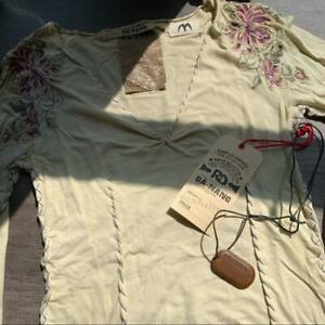 Vintage DaNang cotton embroidered top M