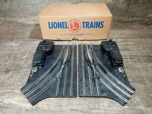 VINTAGE LIONEL TRAIN  #1122 027 TWO Remote Control Switches NON-DERAILING 3 Rail