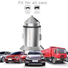 Universal In Car Charger Lighter Socket Adapter Plug Dual USB Twin Port 12V/24V