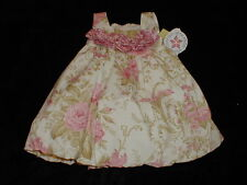 NWT HOLIDAY CLASSIC EASTER PHOTO DRESS Lovely Floral Heirloom Collection 12-18 m