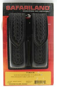 Safariland 77-383-4HS Basketweave Hidden Snap Double Mag Pouch For Glock 20 21