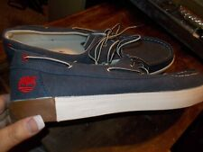 Timberland MENS Classic Boat Shoe - Blue CANVAS Size 13 EUC