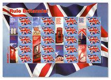 Royal Mail: Rule Britannia!   Union Jack 1st Class Stamp Sheet [Mint]