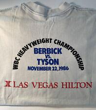 Vintage Berbick VS Tyson Las Vegas Hilton 1986 Boxing Souvenir White T-shirt S/M