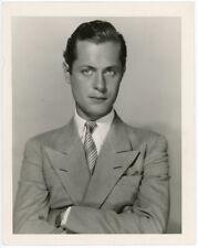 Handsome Matinee Idol Robert Montgomery Original 1930s George Hurrell Photograph