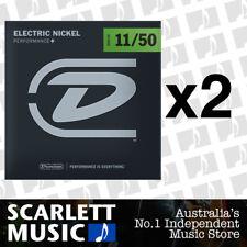 2x Dunlop DEN-1150 Nickel Plated Steel Light Electric Guitar Strings 11 - 50
