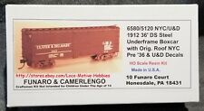 Funaro F&C 6580 5120 NYC NEW YORK CENTRAL U&D Ulster Delaware 36' Boxcar 1912 DS