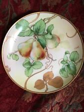 Italian Porcelain Plate Signed Richard GINORI Hand Painted Pears With Gold