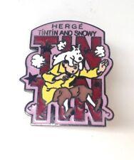 Rare Grand Pin's Tintin Canadian Club 1986 PARFAIT ETAT
