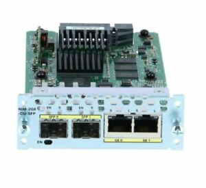 Cisco NIM-2GE-CU-SFP 2-Port Gigabit Ethernet WAN Network Interface Module