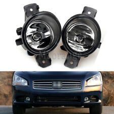 For 2007-2014 Nissan Maxima Front Replacement Fog Light Housing Clear Lens Pair