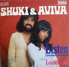 """7"""" 1973 RARE IN MINT- ! SHUKI & AVIVA : Listen"""