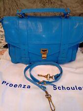 NEW blue Proenza Schouler shoulder, brief case, handbag with tags rrp $2149