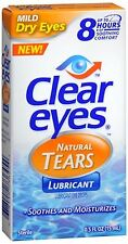 Clear Eyes Natural Tears Lubricant 0.50 oz (Pack of 3)