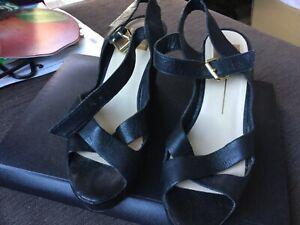 DOLCE VITA Women's open toe heeled slingback wedges inner sole 25cm size 7 VGUC