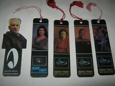 Star Trek bookmarks lot vintage NS9 crew Troi Sisko Kira