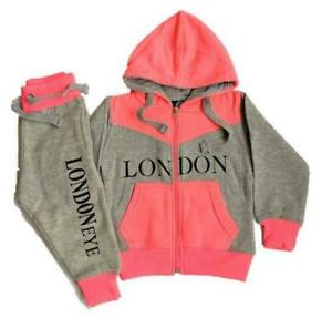 London Souvenir Girls Tracksuit Zipped Top | Cuffed Ankle Bottom | 0 -16 Years