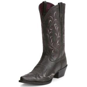 ARIAT Womens Western Boots Heritage West Wingtip 8.5 B Black 10012892