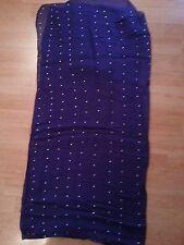 High Quality Large Oversize Crystal Diamante Stud Plain Scarf Shawl Hijab Wrap