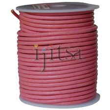 3mm round pink genuine leather cord 5-yard section (spool is not included)