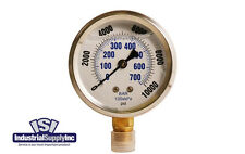 0-10,000 psi  Liquid-Filled Hydraulic Air-Water-Gauge