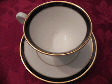 Lenox Oxford Blue Annapolis China cup and saucer Cobalt Blue Great condition