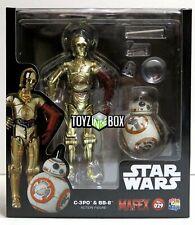 "In STOCK Medicom Toy Star Wars ""C-3PO + BB-8"" SET 029 TFA MAFEX Action Figure"