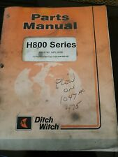 Ditch Witch H800 Parts Book