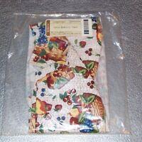 Longaberger Fruit and Baskets OVAL SERVING TRAY Basket Liner ~ Brand New in Bag!