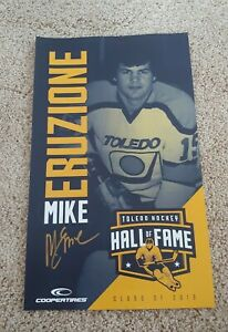 Toledo Hockey Hall of Fame Poster Mike Eruzione AUTOGRAPHED