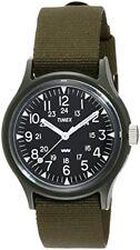 Timex Original Campers 36mm Black Dial Khaki Nylon Strap Watch New