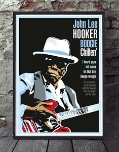 John Lee Hooker blues A3 size specially designed poster print