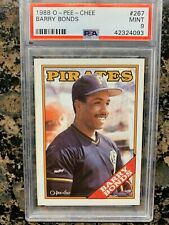 1988 O-PEE-CHEE BARRY BONDS CARD NUMBER #267 PSA 9 MINT