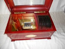 Mr Christmas Musical Bell Symphonium Wooden Music Box With 16 Discs - Works!