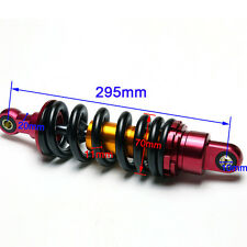 295mm Black/Chrome Rear Motorcycle Shock Absorbers Dirt Bike Trail Moped Buggy