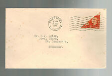 1940 Guernsey Channel Islands England Cover Bi Sect Stamp to St Sampson's