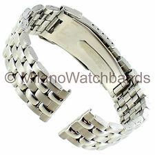 20mm Morellato Silver Tone Stainless Steel Folding Safety Clasp Watch Band