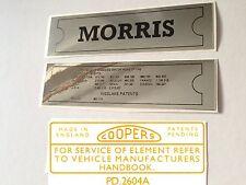 Morris Mini Mk1 Sticker Pack - ADO16 Landcrab Oxford Minor Cowley Isis etc