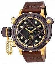 Men's Invicta 16192 Russian Diver Nautilus Swiss Mechanical Leather Watch