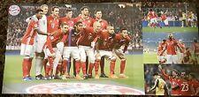 FC Bayern München Poster mit Mannschaft FCB - Arsenal und Thiago Torjubel