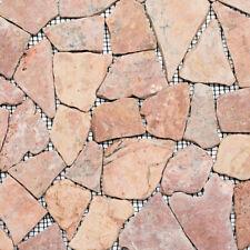 Marmor Bruchmosaik terracottarose Wandverblender Boden WC Bad WB44-30-140|1Matte