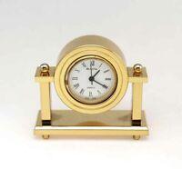 Bulova Miniature Nanette Clock B0505 Solid Brass