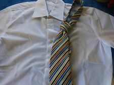 lot=T 40 blanche,neuve,HOMME   chemise et cravate soie