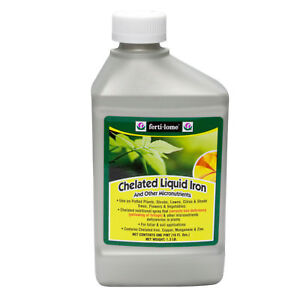 Chelated Liquid Iron and Other Micro For Nutrients Corrects Yellowing  16 oz.