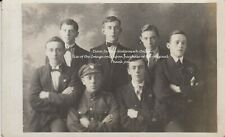 RPC Postcard: WW1 - Studio Group Portrait Including a British Soldier (Reg. TBD)