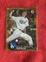 Walker Buehler 2016 Bowman Draft Gold Parallel /50 Los Angeles Dodgers RC