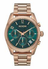Nixon Bullet Chrono 36 Women Watch (All Rose Gold / Emerald)