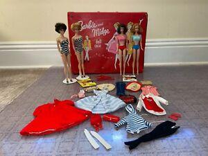VINTAGE 1960'S BUBBLECUT BARBIES & MIDGES W/ORIG CLOTHING, EXTRAS! PLEASE READ!