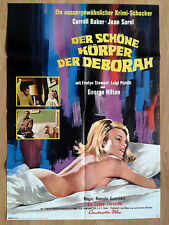 sexy CARROLL BAKER German 1 sheet GIALLO 1968 SWEET BODY OF DEBORAH Jean Sorel